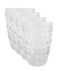 EuroCeramica Fez Highball Glasses, Set of 4
