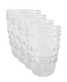 EuroCeramica Fez Highball Glasses, Set of 4