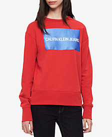 Calvin Klein Jeans Cotton Graphic Sweatshirt