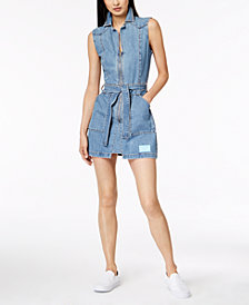Calvin Klein Jeans Cotton Denim Mini Dress