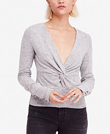 Free People All Types of Twisted Plunging Top
