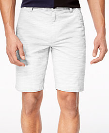 I.N.C. Men's Flat-Front Texture-Stripe Shorts, Created for Macy's