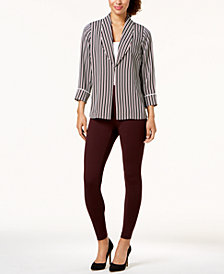 Alfani Striped Blazer & Skinny Pants, Created for Macy's