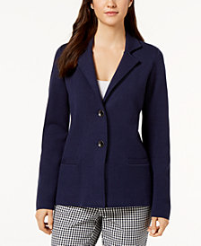 Charter Club Point-Collar Button-Front Cardigan, Created for Macy's