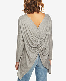 1.STATE Twist-Back Sweater