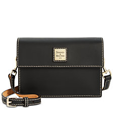 Dooney & Bourke Beacon Small Flapover Smooth Leather Crossbody