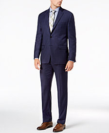 Lauren Ralph Lauren Men's Classic-Fit UltraFlex Stretch Blue Check Suit Separates