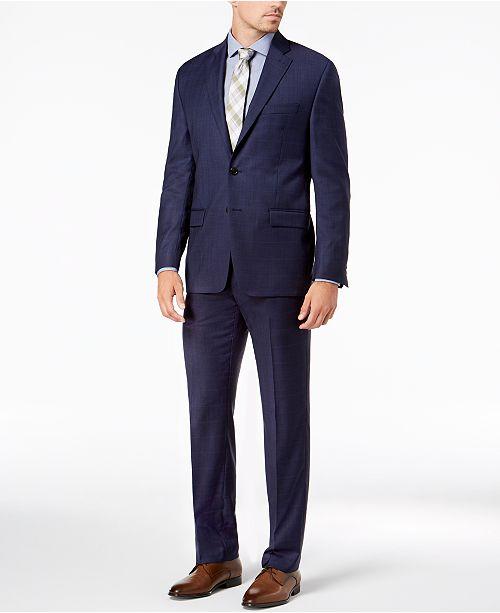 Lauren Ralph Lauren Men's Classic-Fit UltraFlex Stretch Blue Check Suit Separates