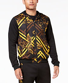 Versace Jeans Men's Baroque Print Full-Zip Hoodie