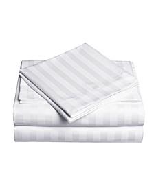 Dobby Stripe 4-Pc Full Sheet Set