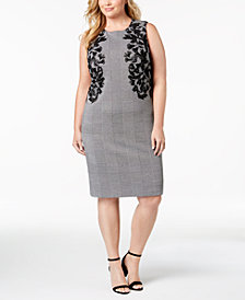 Calvin Klein Plus Size Embroidered Sheath Dress