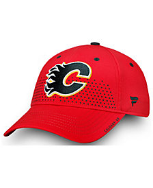 Authentic NHL Headwear Calgary Flames Draft Structured Flex Cap