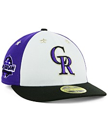 ed22ba79bcf New Era Colorado Rockies All Star Game Patch Low Profile 59FIFTY Fitted Cap  2018