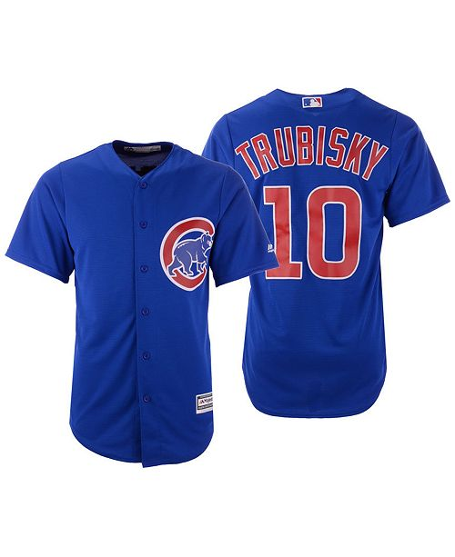 the best attitude 74b5f 4cbc4 Majestic Men's Mitchell Trubisky Chicago Cubs NFLPA Replica ...
