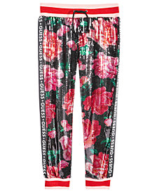 GUESS Big Girls Sequin Floral Jogger Pants