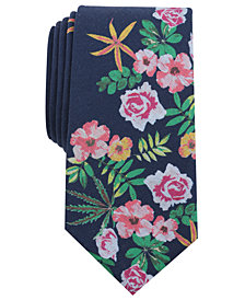 Bar III Men's Cesar Floral Skinny Tie, Created for Macy's