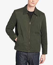 Tommy Hilfiger Men's Big & Tall Classic Full-Zip Micro-Twill Jacket