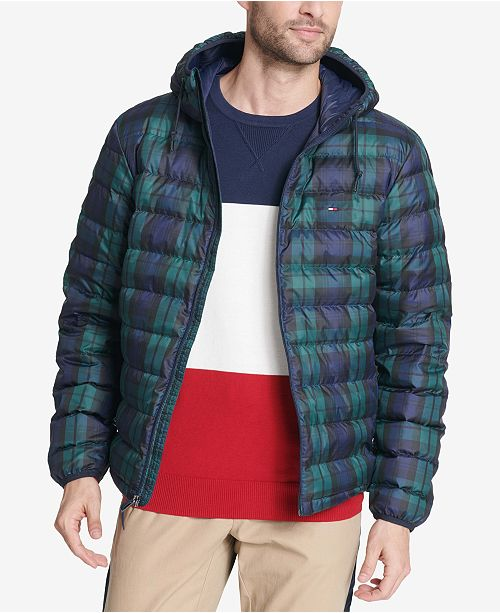 Tommy Hilfiger Men's Color Block Hooded Ski Coat, Created for Macy's