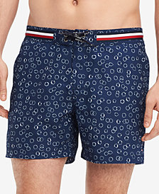 "Tommy Hilfiger Men's Circle-Print 6.5"" Swim Trunks, Created for Macy's"