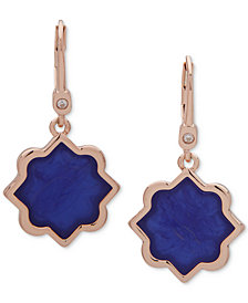 Ivanka Trump Rose Gold-Tone Stone Drop Earrings