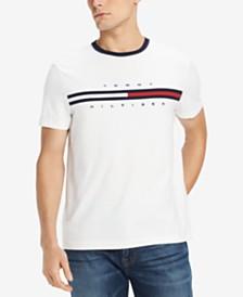 70c3180022eea2 Tommy Hilfiger Men s Big and Tall Logo-Print T-Shirt