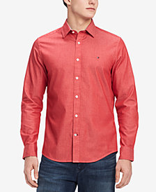 Tommy Hilfiger Men's New England Slim Fit Oxford Shirt, Created for Macy's