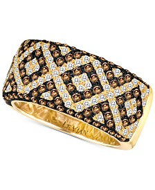Le Vian Chocolatier® Diamond Pavé Statement Ring (1-1/3 ct. t.w.) in 14k Gold