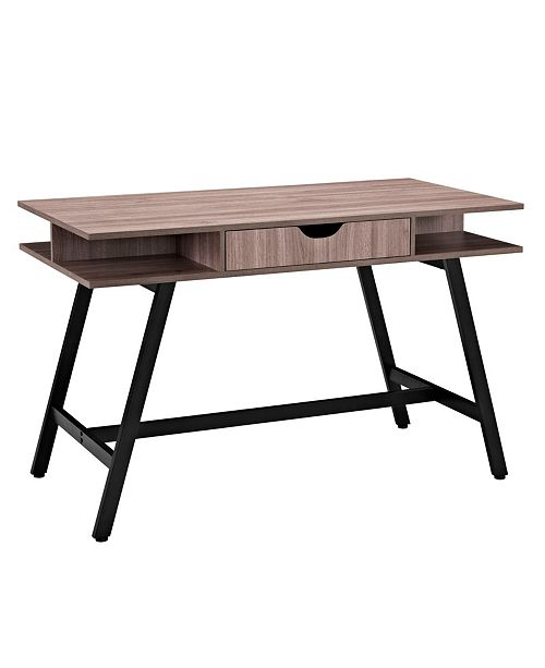 Modway Turnabout Office Desk in Birch
