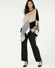 Charter Club Pure Cashmere Poncho, Created for Macy's