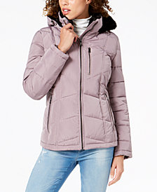 Calvin Klein Faux-Fur-Lined Puffer Coat