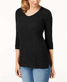 Karen Scott Cotton V-neck Tunic, Created for Macy's