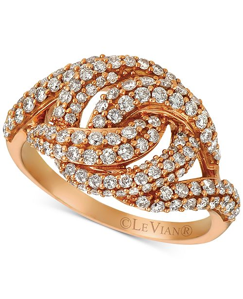 Le Vian Diamond Knot Ring (1-1/6 ct. t.w.) in 14k Rose Gold