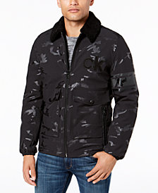 Calvin Klein Men's Metallic Windbreaker Coat