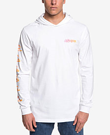 Quiksilver Men's Rough Right Logo Graphic Hooded T-Shirt