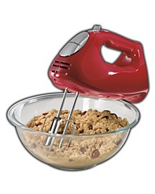Ensemble Red Hand Mixer with Snap-On Case