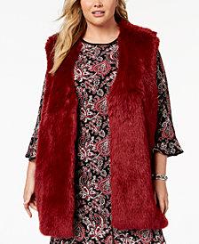 MICHAEL Michael Kors Plus Size Faux-Fur Vest
