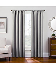 "Keeco Antique Satin 52"" x 63"" Room-Darkening Rod Pocket Window Panel"