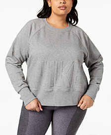 Nike Plus Size Embossed-Logo Dri-FIT Fleece Sweatshirt