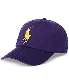 Polo Ralph Lauren Men's Big & Tall Cotton Chino Big Pony Baseball Cap