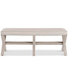 Brighton Upholstered 'X' Base Bed Bench, Quick Ship
