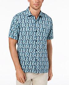 Tommy Bahama Men's Poquito Geo-Print Silk Shirt
