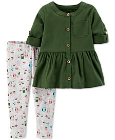 Carter's Baby Girls 2-Pc. Owl Print Outfit Set