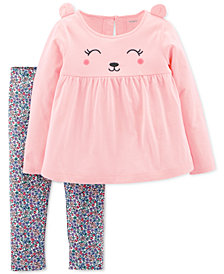 Carter's Toddler Girls 2-Pc. Bear Top & Floral Legging Set