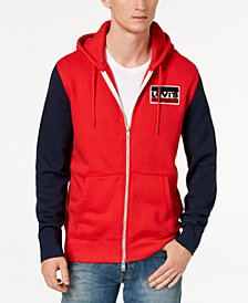 Levi's® Limited: Old School Men's Colorblocked Full Zip Fleece Hoodie, Created for Macy's