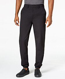 DKNY Men's Slim-Straight Fit Tech Joggers