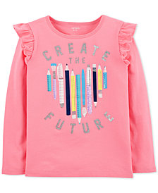 Carter's Little & Big Girls Create The Future Graphic Cotton Shirt