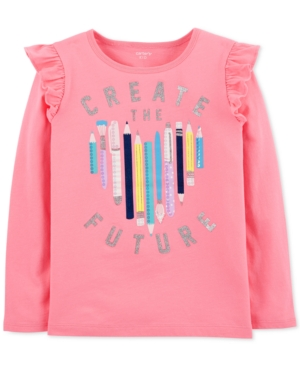 Carters Little  Big Girls Create The Future Graphic Cotton Shirt