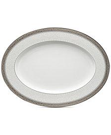 "Noritake Odessa Platinum 14"" Oval Platter"