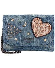 GUESS In Love Denim Double Date Wallet