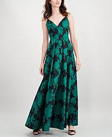 Calvin Klein Sleeveless Floral-Print Gown